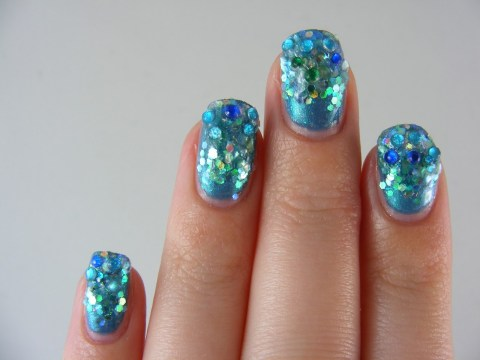 unique nail designs mermaid