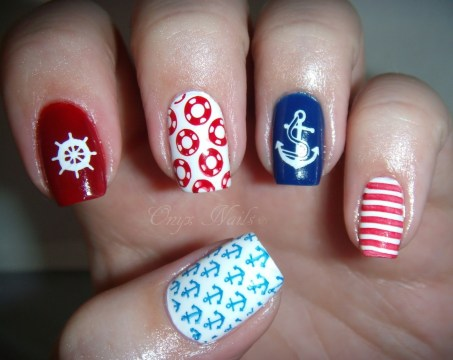 unique nail designs nautical nail art