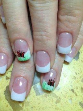 white solar nails