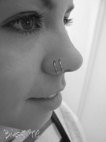 Best Double Nose Piercing Ideas Beautiful Rings Studs Fmag Com