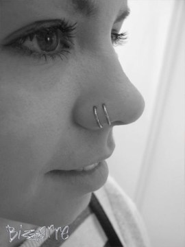 cute nose piercings cute double piercing hoops