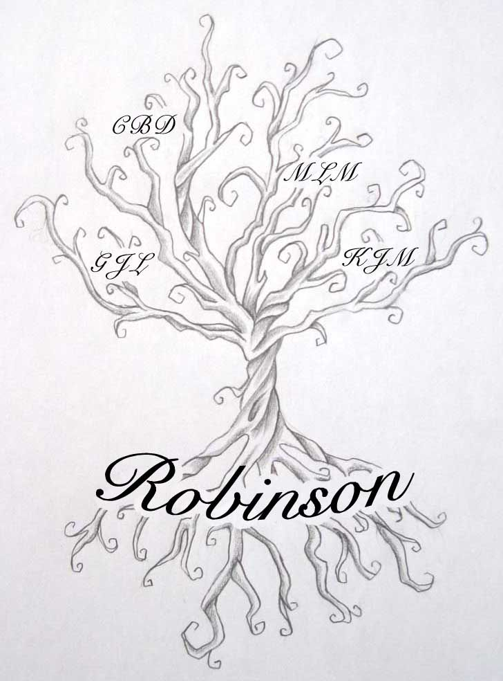 Line Drawing Name Designs : Family tree tattoos let your know you love them