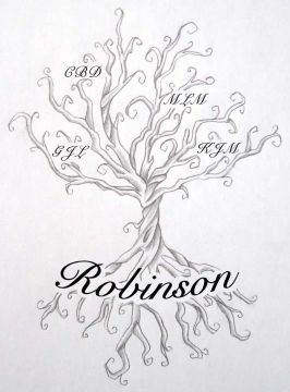Family tree tattoo design