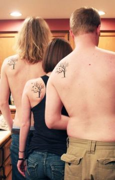Matching family tree tattoos