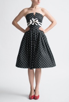 Black And White Vintage Cocktail Dress