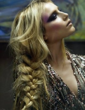 Braided loose hair
