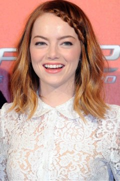 EmmaStone on The Amazing Spiderman2 with a boho hair