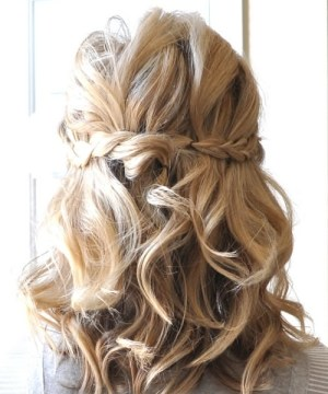 Half Up Braided Hairdos for Wavy Medium Length Hair