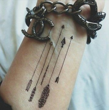 Wrist arrow tattoo