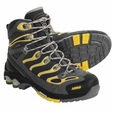 asolo advance gore tex hiking boots for women in grey gunmetal