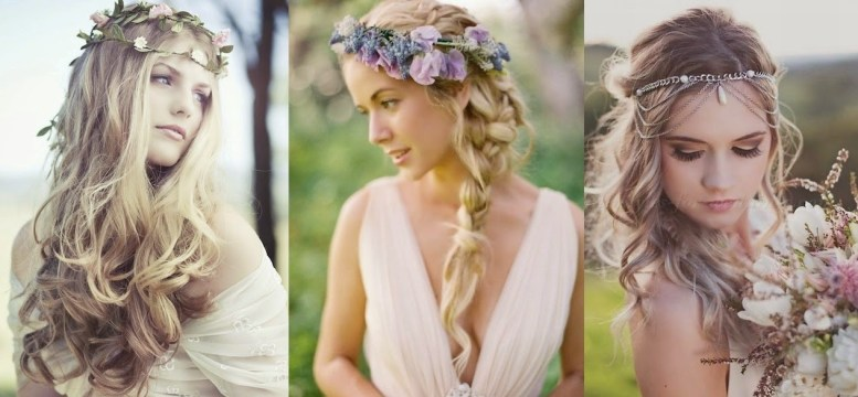 boho braids with floral crowns