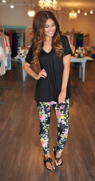Printed summer leggings