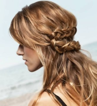 untidy knots boho hairstyle