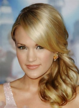 Carrie Underwood's Side Ponytail Hairstyle