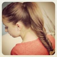 Fishtail Braid Medium Length Hair | hairstylegalleries.com