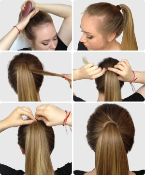 Elegant Sleek Ponytail Hairstyle