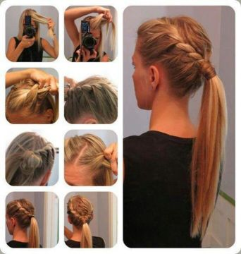 Side Braid Ponytail Hairstyle