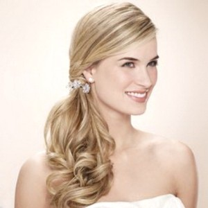 Side Swept Sleek Low Ponytail Hairstyle