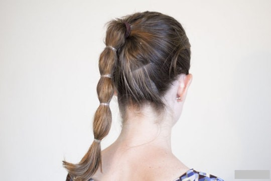 Simple Segmented Ponytail