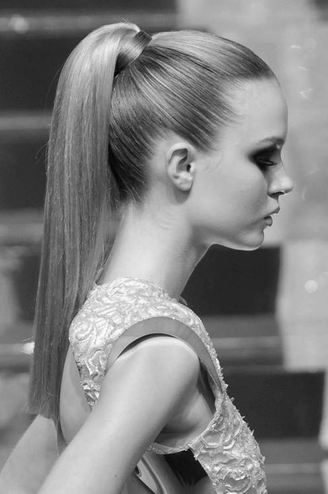 fashion sleek ponytail hairstyle - fmag