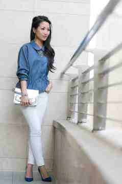 Soft Chambray Blouse