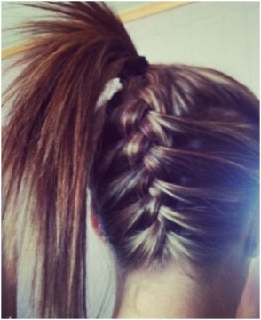 Upward Braid High Ponytail