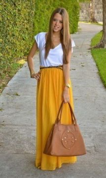 Relaxed maxi skirt outfit
