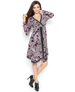 lovely printed dress -- the elegant handkerchief hem and flattering empire-waist silhouette