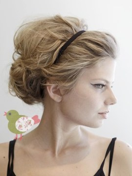 Quick hairstyle with hairband