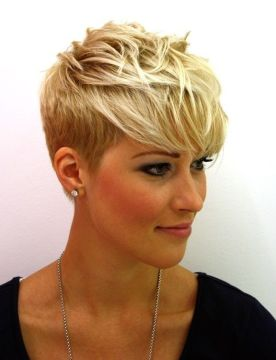 Girly makeup with short hair