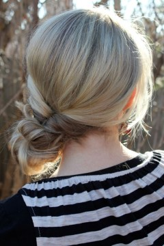 Twisted ponytail bun