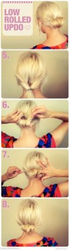 Easy hairstyle for hair up