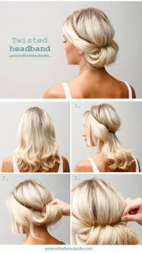Quick hairstyle with headband