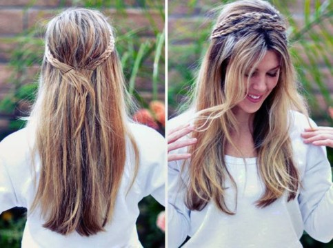 Bohemian DIY Hairstyle