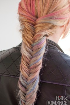 Colored Fishtail Braid