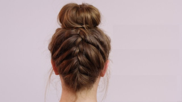 Messy French Braided Bun