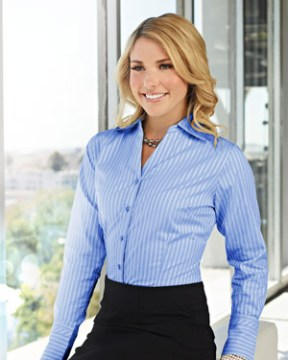 Blue Dress Shirt and Pencil Skirt