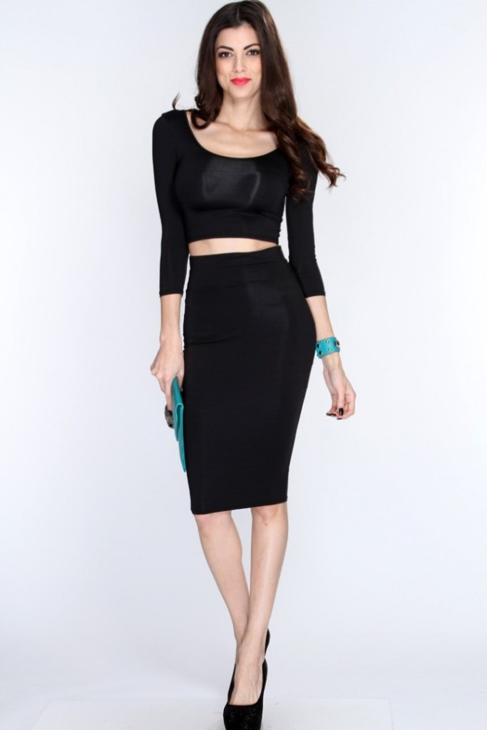55 amazing pencil skirt outfit ideas for Black dress shirt outfit