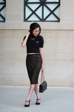 Crop Top Pencil Skirt
