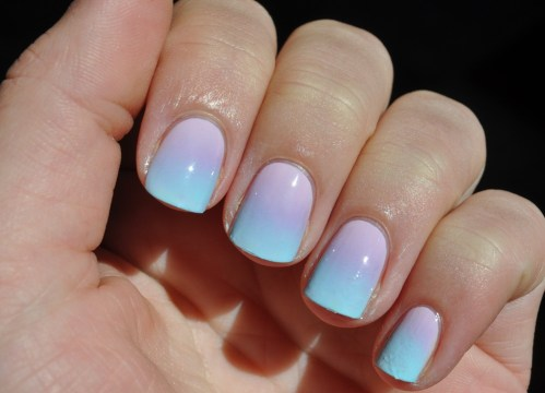 Cute Pastel Ombre Nail Design