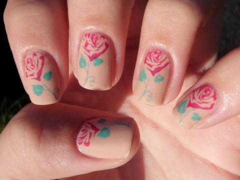 Flower Pastel Nail Design