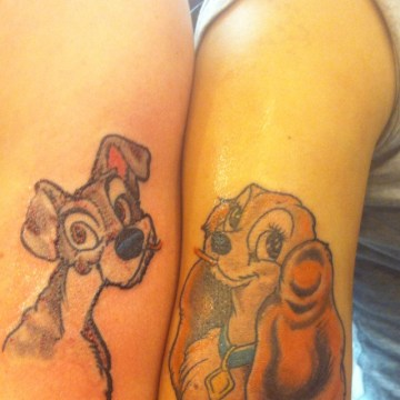 Lady and Tramp Awesome Couple Tattoo