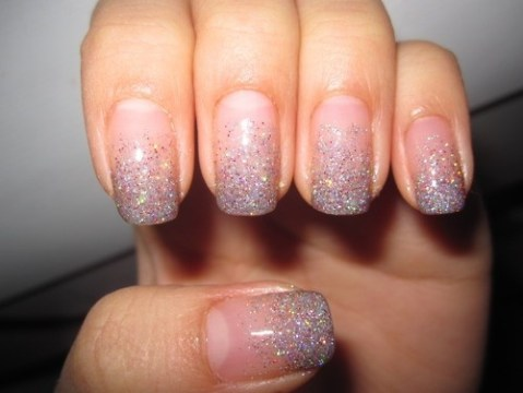 Ombre Glitter Nails for Weddings