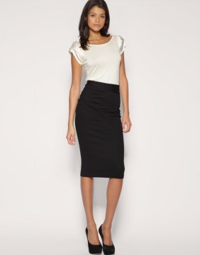 Pencil Skirt with Fit White Top