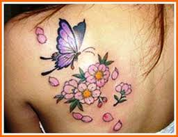 Petals and Butterfly Tattoo