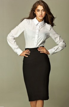 Professional Look Black Pencil Skirt