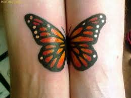 Twin Monarch Butterfly Tattoo