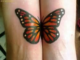 Twin Monarch Butterfly Tattoo