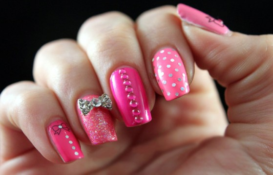 Various Pink Nail Polish Designs