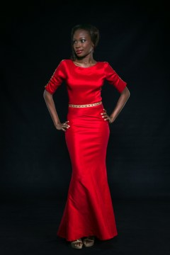 stunning red dress with a mermaid skirt style bella naija